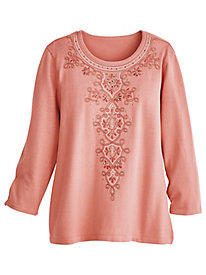 Alfred Dunner® Good to Go Medallion Sweater