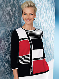 Alfred Dunner® Grand Boulevard Colorblock Sweater