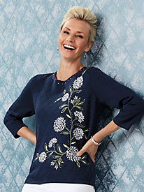 Alfred Dunner® Greenwich Hills Embroidered Sweater