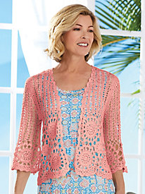 Ruby Rd. Martinique Crochet Cardigan