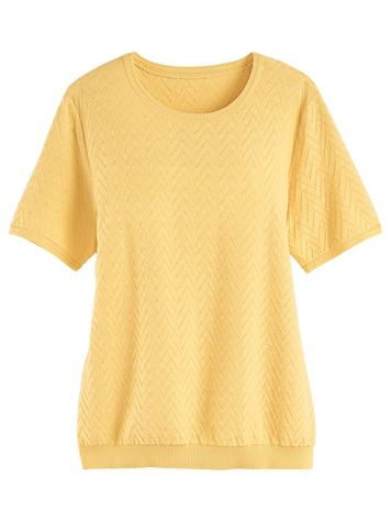 Alfred Dunner® Classic Solid Sweater Shell - Image 0 of 1