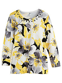 Alfred Dunner® Native New Yorker Floral Sweater