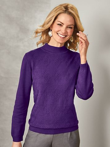 Alfred Dunner® Classic Mockneck Sweater - Image 1 of 6