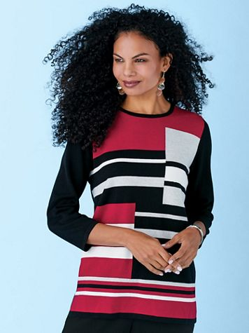 Alfred Dunner® Classic Colorblock Sweater