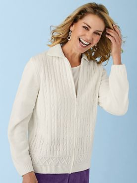 Alfred Dunner® Classic Chenille Cardigan