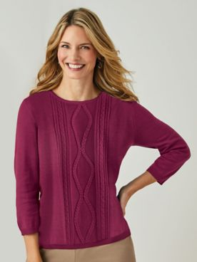 Alfred Dunner® Classic Braided Sweater