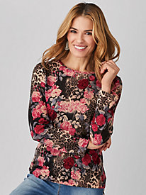 Koret® Animal Floral Sweater