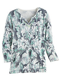 Alfred Dunner® Medallion Scroll Sweater