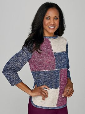 Alfred Dunner® Autumn Harvest Colorblock Sweater