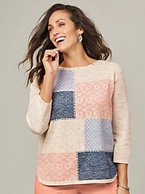 Alfred Dunner® Pearls of Wisdom Colorblock Sweater
