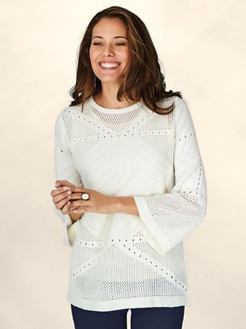 Pointelle Sweater - Image 1 of 4
