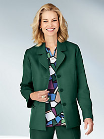 Alfred Dunner® Classic Button-Front Blazer