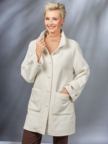 Cozy Fleece Jacket by Serbin Sport® - Image 6 of 6