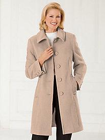 Wool-Blend Walking Coat
