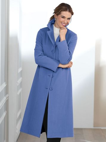 Wool-Blend Full Length Coat by Mark Reed - Image 1 of 5