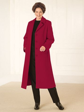 Wool-Blend Full Length Coat by Mark Reed - Image 3 of 3