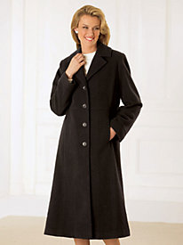 Wool-Blend Full Length Coat by Mark Reed by Old Pueblo Traders