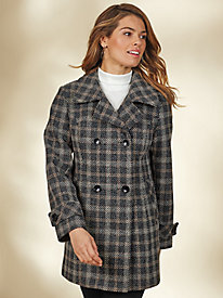Wool-Blend Peacoat By Mark Reed