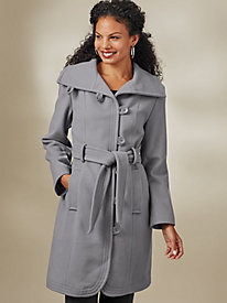 Wool-Blend Belted Pants Coat By Mark Reed