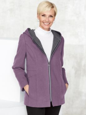 Wool-Blend Zip Coat by Mark Reed