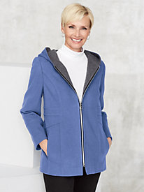 Wool-Blend Zip Coat by Mark Reed