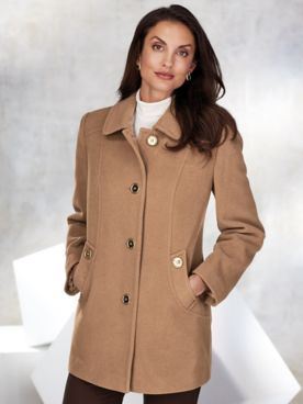 Wool-Blend J-Pocket Car Coat by Mark Reed