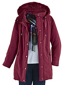 Microfiber Jacket with FREE Scarf by Below Zero® by Old Pueblo Traders