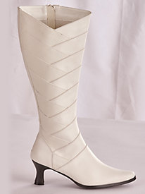 Pleat Detail Tall Shaft Boots by Classique®