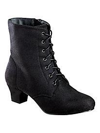 Faux Suede Side-Zip Boots By Classique®