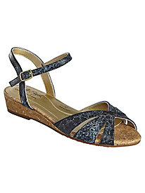 Midnite Quarter Strap Sandals by Soft Style®