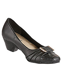 Dolly Style Pleated Bit Pumps By Classique®