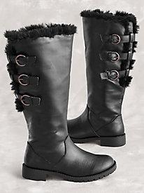 Darcy Faux Fur Trim Boots By Classique®