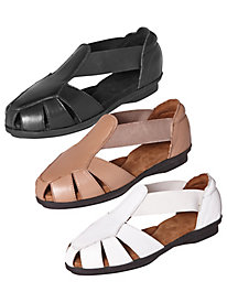 Leather Fisherman Sandals By Heavenly Comfort®