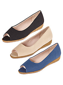 Tuscon Peep-Toe Espadrilles By Beacon®
