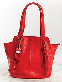 Joan Fringe Trim Hobo by MC Collection