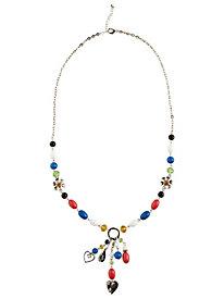 Long Crystal Ornamental Necklace