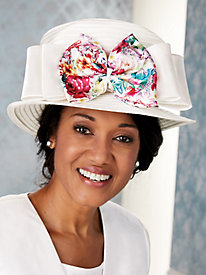 Floral Print Hat