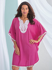 Crochet Trim Beach Cover Up
