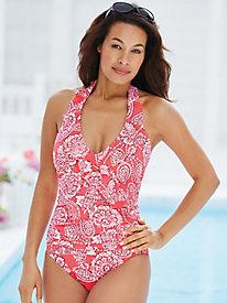 Lady Lace Ruffled Swimsuit By Penbrooke®