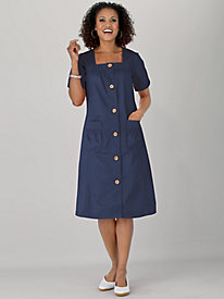 Koret® Breezy Button Front Dress