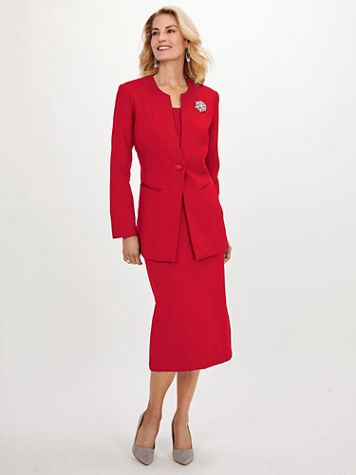 Koret 2-Pc. Suit with FREE Brooch - Image 1 of 9