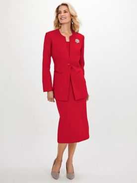 Koret 2-Pc. Suit with FREE Brooch