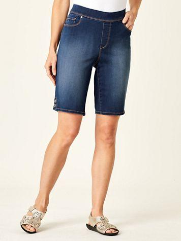 Avery Pull-On Bermuda Shorts by Gloria Vanderbilt® - Image 1 of 5