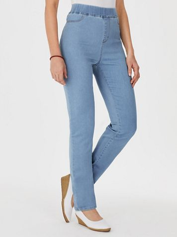 Koret® Knit Denim Slim-Leg Pants - Image 1 of 4