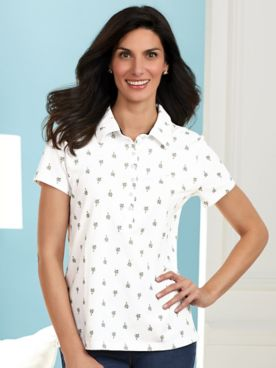 Annie Polo Tee by Gloria Vanderbilt®
