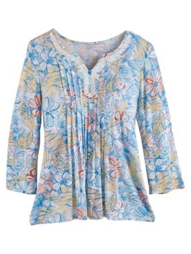 Ruby Rd. Martinique Floral Print Top