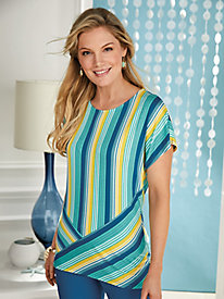 Ruby Rd. Amalfi Coast Stripe Knit Top