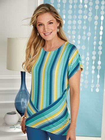 Ruby Rd. Amalfi Coast Stripe Knit Top - Image 2 of 2
