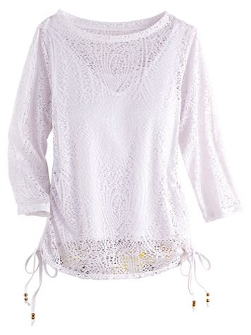 Sunny Side Up Paisley Mesh Top by Hearts of Palm - Image 2 of 2