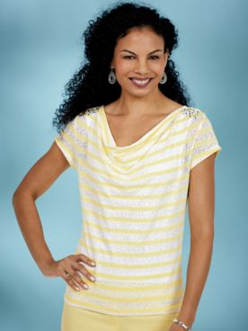 Sunny Side Up Lacy Stripes by Top Hearts of Palm
